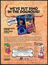 The FLINTSTONES: DINO plush promo__Original 1994 Trade Print AD__HANNA-BARBERA