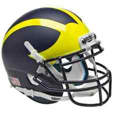 MICHIGAN WOLVERINES NCAA Schutt XP Authentic MINI Football Helmet (MATTE)