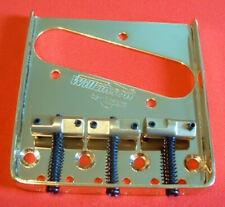 Guitar Bridge Tailpiece - Wilkinson WTB - TELECASTER Tele BRASS SADDLES - GOLD