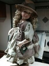 """Geppeddo Collector Series 24"""" Doll Clothes Only (Brown-Tan Dress/Straw Hat)"""