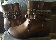 Ankle Boots Ladies size 7 NIB Cognac colored