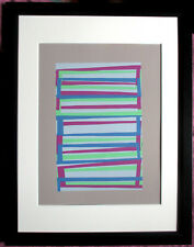 JOSEF ALBERS >Interaction of Color< Original Siebdruck 25x32, mit Rahmen, SUPER