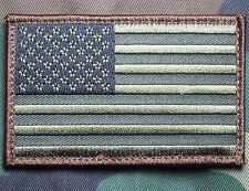 USA AMERICAN FLAG TACTICAL US ARMY MORALE MILITARY BADGE FOREST CAM VELCRO PATCH