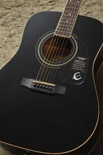 Epiphone DR-100 Acoustic Guitar Ebony Black with case F/S EMS from Japan