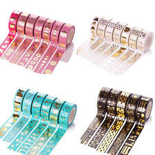 Multi-colour Metallic Gold Craft Washi Paper Tape DIY Scrapbook Adhesive Sticker