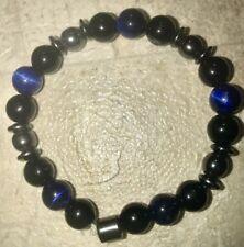 Chakra Balance Natural Stone Bracelet/magnetic/Blue Tigers Eye,