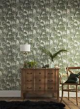 Designer Julien Macdonald Honolulu Glitter Metallic Palm Print Vert Papier Peint