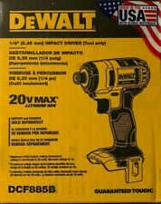 DEWALT 20V MAX Li-Ion 1/4 in. Impact Driver DCF885B New - Tool Only
