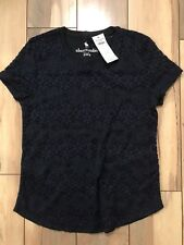 Abercrombie Fitch Kids Floral Pattern Shirts, Navy, 11-12