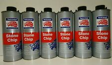 6 x 1ltr Stone Chip BLACK Over Paintable by Tetrosyl SCS010