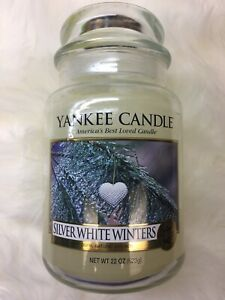 Yankee Candle Silver White Winters Extremely Rare My Favorite Things Collection!