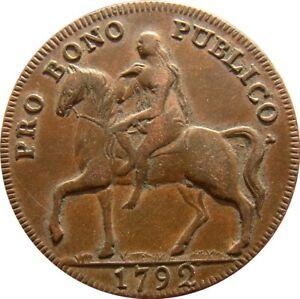 Great Britain  Conder Half Penny  Lady Godiva 1792 Token