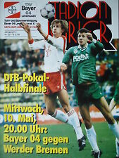 Programm Pokal 1988/89 Bayer 04 Leverkusen - Werder Bremen