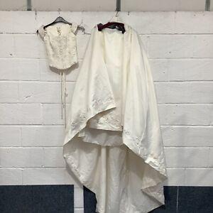 Maggie Sottero Wedding Dress/Separate Bodice & Skirt Size 8 Corset Long Train