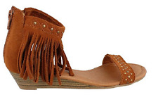 Minnetonka Savona Women's Sandal, Brown, Size US 5, EUR 36, MSRP $65