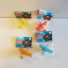 Vintage Aerial Circus Flying Ace Stunt Plane Plastic Dime-Store Airplane Toy NOS