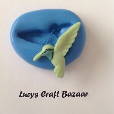 Silicone Mould Hummingbird Nature Resin Polymer Clay Garden Twitcher Hobby Icing