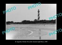OLD LARGE HISTORIC PHOTO ST AUGUSTINE FLORIDA THE ANATASIA LIGHTHOUSE c1902