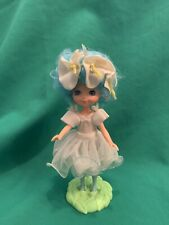 Vintage Rose Petal Place Doll Lily Fair with Stand Blue Flower Fairy Kenner