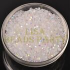 New 200pcs 3mm Bicone Faceted Crystal Glass Loose Spacer Beads Half AB