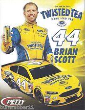 "2016 BRIAN SCOTT ""TWISTED TEA"" #44 NASCAR SPRINT CUP POSTCARD"