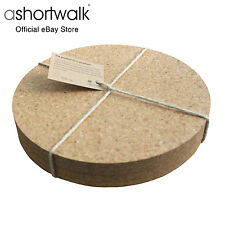 ashortwalk Eco Round Cork Placemats - Set of 4