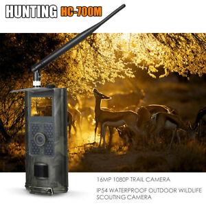 2G Wildkamera 16MP 1080P Jagdkamera Fotofalle PIR Nachtsicht SMS GSM HC700M M5L0