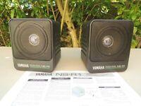 Vintage 90' 2 x Speaker YAMAHA NS R1 Natural sound Bookshelf 40W 8 Ohms JAPAN