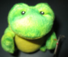 Ty Frog Jumps Greens Yellows Stuffed Plush Toy 2009 3.5 in tall Beanie