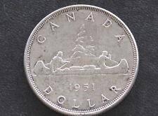 1951 Canada Silver Dollar Georgivs VI Canadian Coin D4346
