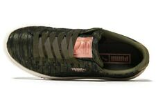 New Puma Basket Platform VR trainers. UK 5. Rrp £85 BNWB. Olive sneakers. EU 48