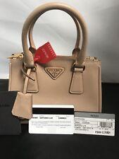 Prada Cammeo small 1BH907 F0770 Saffiano Lux Micro Mini Tote Bag w/Strap  4882