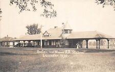 E4/ Lancaster New Hampshire NH Real Photo RPPC Postcard c1920 Railroad Depot