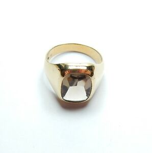 Gents Yellow Gold Ring 18 carat Topaz