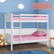 3ft Single Bunk Bed Wooden Frame in White Can Split into 2 Single Beds Bedroom
