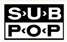 Sub Pop Record Label Ltd Ed Rare Sticker! Nirvana Soundgarden Mudhoney The Shins