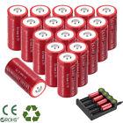 2800mAh Batteries CR123A 16340 Rechargeable Li-ion Battery / Smart Charger Lot