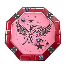 10″ x 10″ Octagon Dice Tray with Vegan Leather base–Unicorn Pegasus - By C4Labs