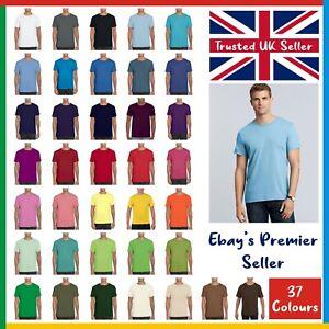 Gildan Softstyle Ringspun T-Shirt - Mens Plain Tee - Standard Blank GD01 - Shirt
