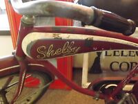 "RARE Vintage 1953 Shelby Traveller 20"" Bicycle TANK RACK GAS OIL SODA ORIG PAINT"