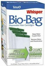 Bio Bag Filter Cartridges Tetra Whisper Assembled for Aquarium Medium 3 Pack NEW