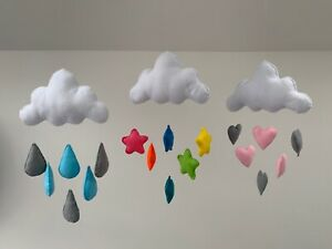 Felt cloud mobile   Choice of designs   Handmade   Beautiful nursery decoration