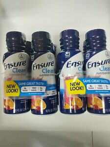 (8) 10 oz Bottles Ensure Clear Nutrition Drink Mixed Berry  Exp Sept/2021