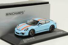 2016 Porsche 911R 911 R 991 Gulfblau orange Streifen 1:43 Minichamps Diecast