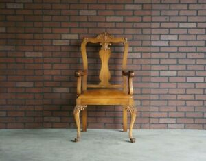 Antique French Carved Arm Chair ~ French Provincial Chair ~ Dining Arm Chair