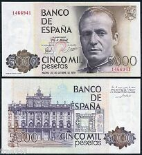 5000 Pesetas 1979 Juan Carlos I  SIN SERIE -  SC  /  SPAIN Pick 160 UNC
