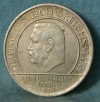 1929-A Germany 3 Mark Constitution World Silver Coin KM 63 High Grade #4448