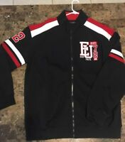 NEW ECKO UNLTD Mens XL Jacket Thick Light Varsity Zipper Track Black 90's School