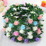 Sweet Girls Women Rose Flower Crown Headband Wreath Party Wedding Headwear BDAU