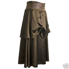 STEAMPUNK GOTHIC HIPPY BOHO COSPLAY SKIRT LONG  BROWN SIZE 10